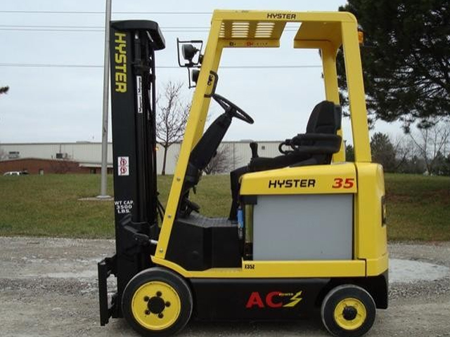 Used Hyster 4 Wheel Electric Forklift